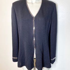 St. John Evening Black Evening Zip Jacket 10